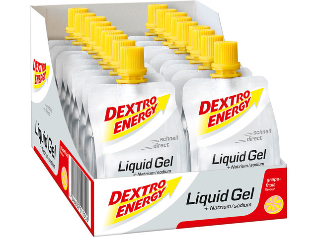 Dextro Energy Liquid Gel Box 18 x 60ml, Grapefruit with Natrium